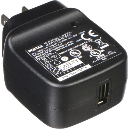 Pentax Power Adapter D-PA135J for WG-3 and WG-3 GPS Digital Cameras
