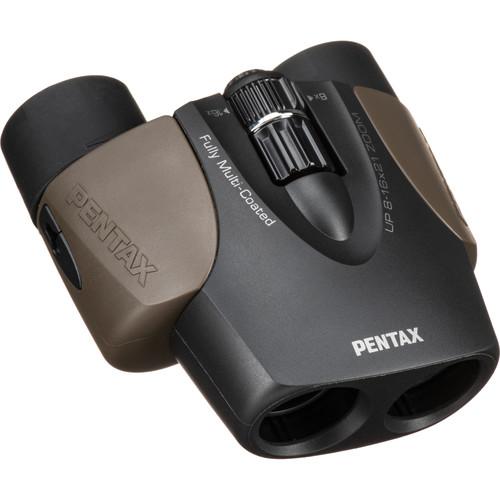 Pentax 8-16x21 U-Series UP Binoculars (Brown)