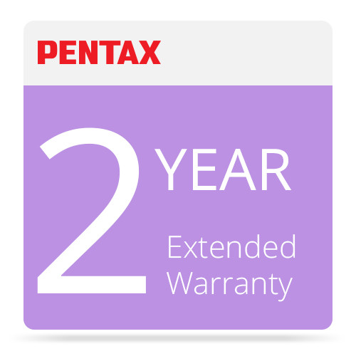 Pentax 2-Year Extended Warranty for Pentax and Ricoh Cameras