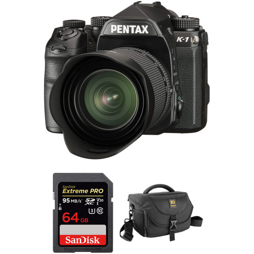 Pentax K-1 DSLR Camera with 28-105mm Lens and Accessory Kit