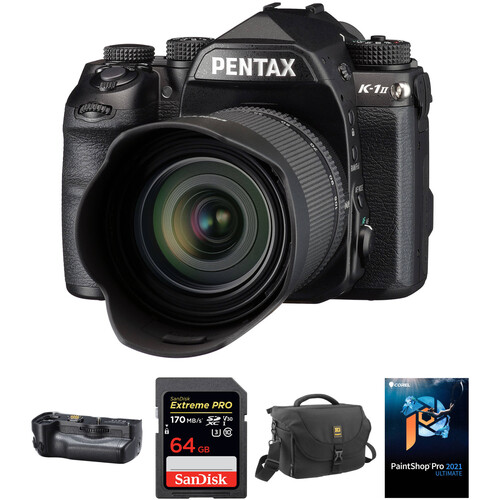 Pentax K-1 Mark II DSLR Camera with 28-105mm Lens and Battery Grip Kit