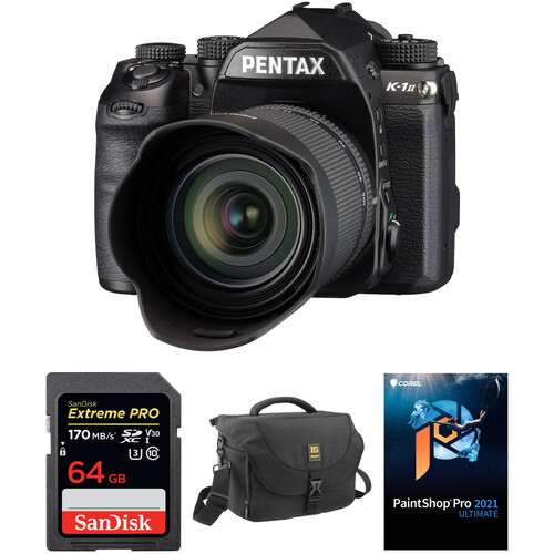 Pentax K-1 Mark II DSLR Camera with 28-105mm Lens and Accessories Kit