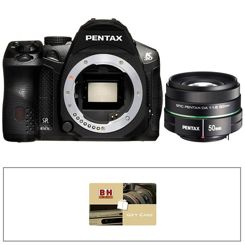 Pentax K-30 Digital SLR Camera Kit with 50mm f/1.8 Lens (Black)