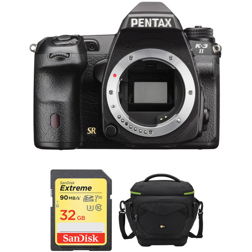 Pentax K-3 II DSLR Camera Body with Accessory Kit