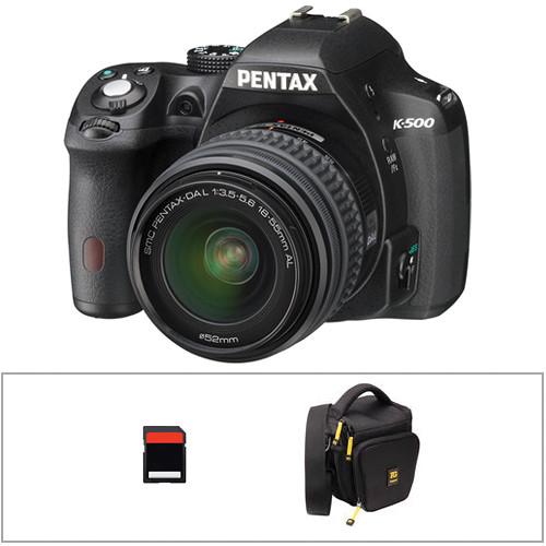 Pentax K-500 DSLR Camera with 18-55mm Lens Basic Kit