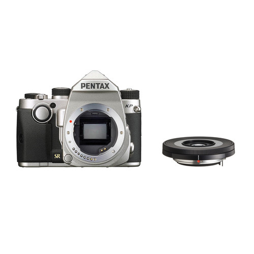 Pentax KP DSLR Camera with 40mm Lens Kit (Silver)