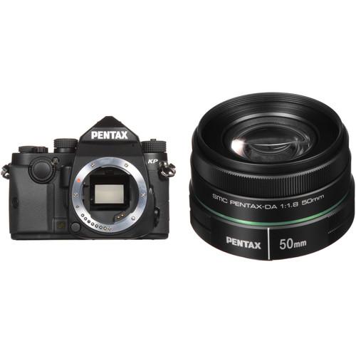 Pentax KP DSLR Camera with 50mm Lens Kit (Black)