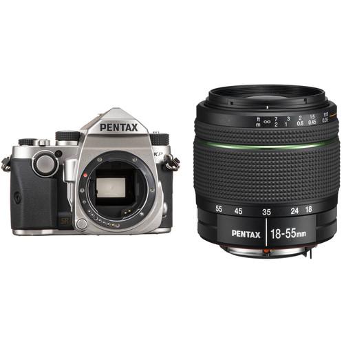 Pentax KP DSLR Camera with 18-55mm Lens Kit (Silver)