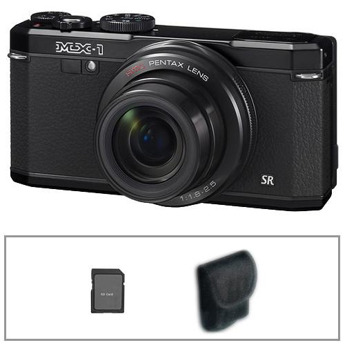 Pentax MX-1 Digital Camera Basic Kit (Black)