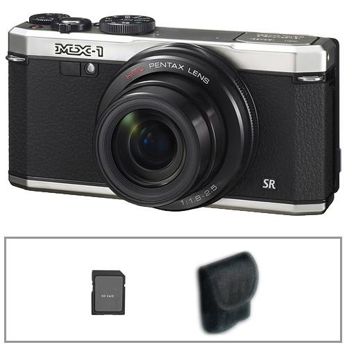 Pentax MX-1 Digital Camera Basic Kit (Silver)