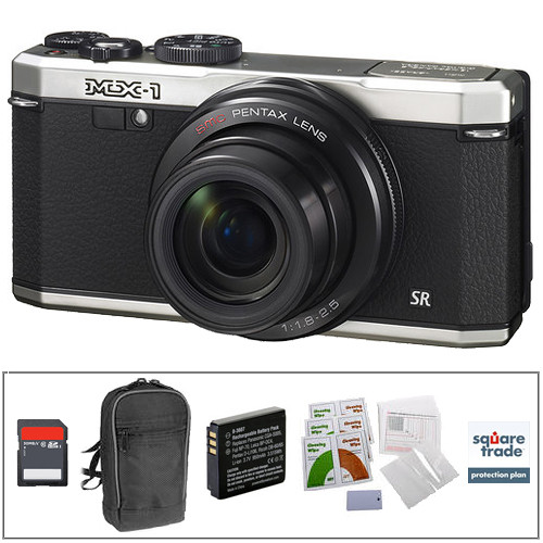 Pentax MX-1 Digital Camera Deluxe Kit (Silver)