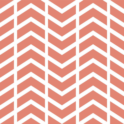 PepperLu PolyPaper Photo Backdrop (5 x 6', Split Chevron Pattern, Salmon)