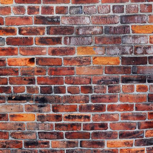 PepperLu PolyPaper Photo Backdrop (5 x 5', Old World Brick Pattern)