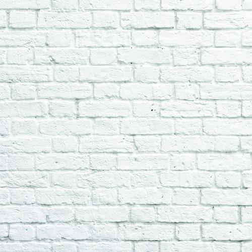 PepperLu PolyPaper Photo Backdrop (5 x 5', White Bricks Pattern)
