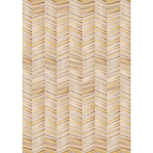 PepperLu PolyPaper Photo Backdrop (5 x 6', Gold Herringbone Pattern)