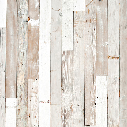 PepperLu PolyPaper Photo Backdrop (5 x 5', Rustic White Wash Pattern)