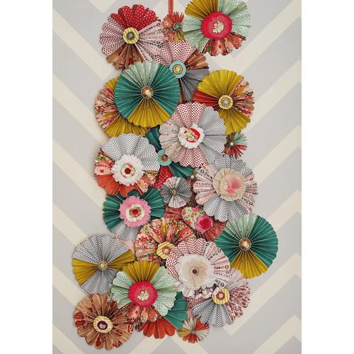 PepperLu PolyPaper Photo Backdrop (5 x 7', Wallflowers Pattern)