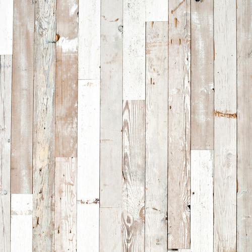 PepperLu PolyPaper Photo Backdrop (5 x 7', Rustic White Wash Pattern)