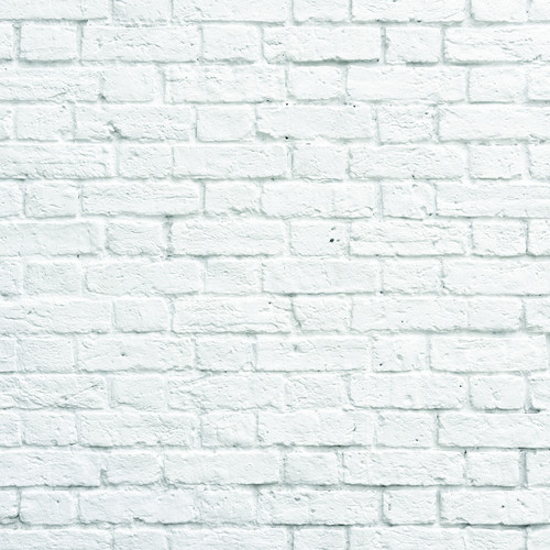 PepperLu PolyPaper Photo Backdrop (5 x 7', White Bricks Pattern)