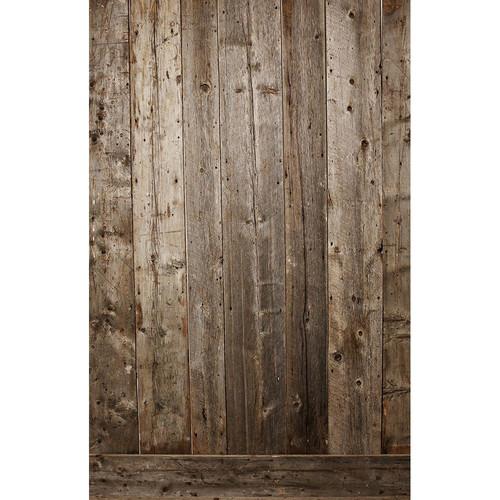 PepperLu PolyPaper Photo Backdrop (5 x 6', Maine Barn Board Pattern)