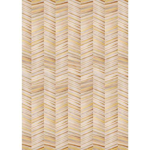 PepperLu PolyPaper Photo Backdrop (5 x 7', Gold Herringbone Pattern)