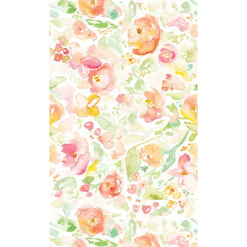 PepperLu PolyPaper Photo Backdrop (5 x 6', Blended Flowers Pattern)