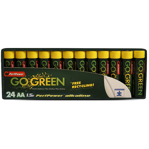 PerfPower Go Green AA Alkaline Batteries (24-Pack)