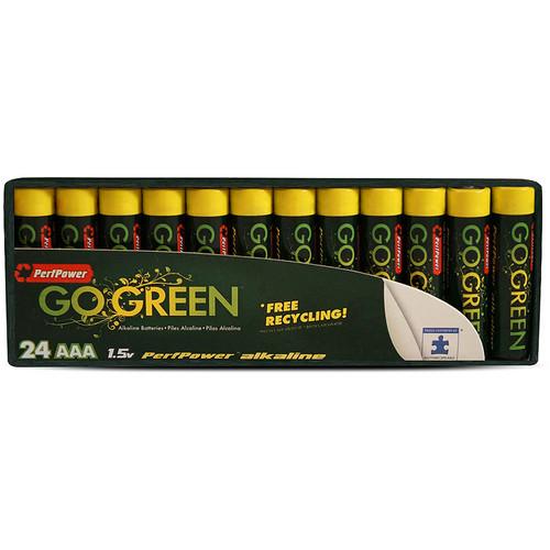 PerfPower Go Green AAA Alkaline Batteries (24-Pack)