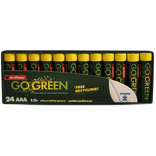 PerfPower Go Green AAA Alkaline Batteries (24-Pack)