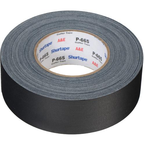 "Permacel/Shurtape P-665 Gaffer's Tape (2"" x 55 Yards, Black)"