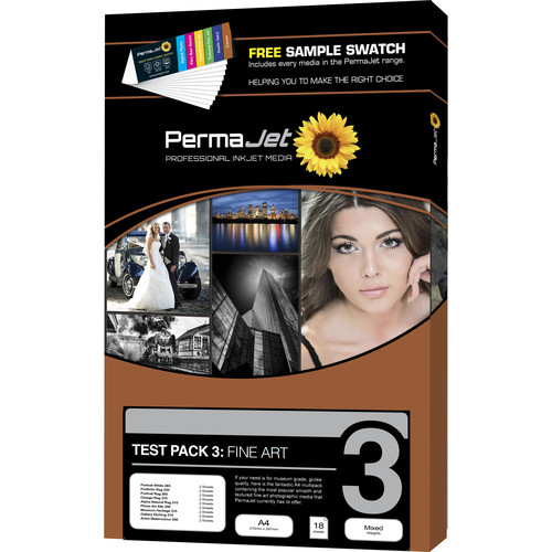 PermaJetUSA Textured Fine Art Paper Test Pack (A4, 12 Sheets)
