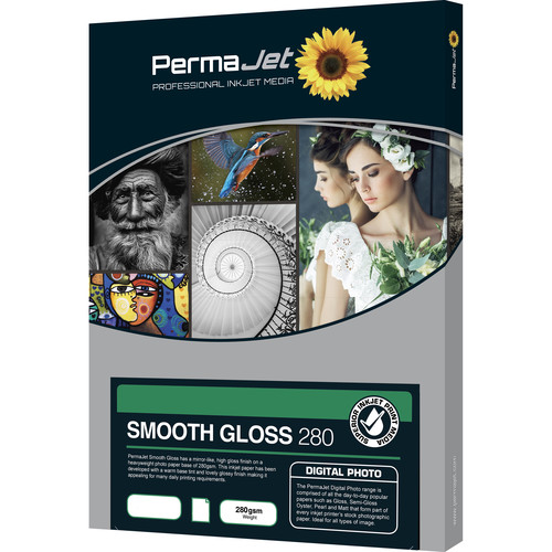 PermaJetUSA Smooth Gloss 280 Digital Photo Paper (A2, 50 Sheets)