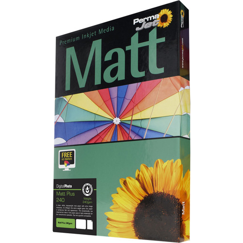 PermaJetUSA MattPlus 240 Digital Photo Paper (A4, 50 Sheets)