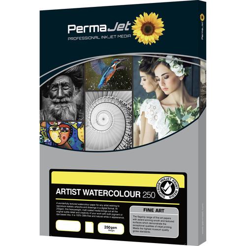 PermaJetUSA Artist Watercolour 250 Textured Fine Art Paper (A3, 25 Sheets)