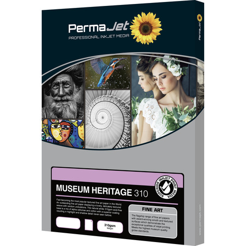 PermaJetUSA Museum Heritage 310 Textured Fine Art Paper (A3+, 25 Sheets)
