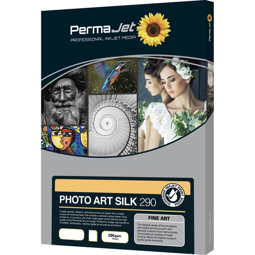 PermaJetUSA Photo Art Silk 290 Smooth Fine Art Paper (A2, 25 Sheets)