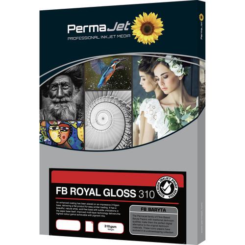 PermaJetUSA FB Royal Gloss 310 Fiber-Based Baryta Paper (A2, 25 Sheets)
