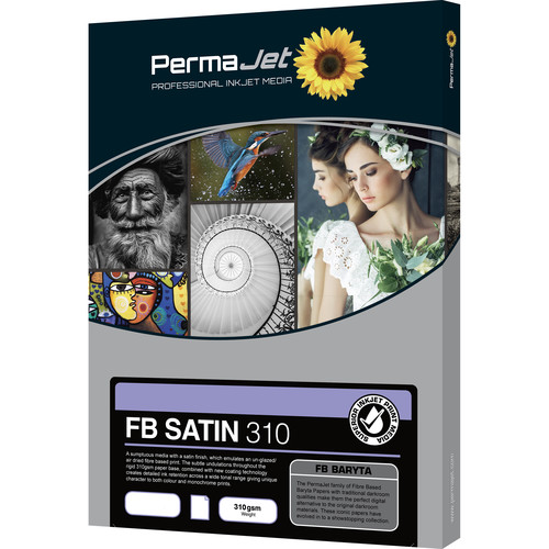 PermaJetUSA FB Satin 310 Fiber-Based Baryta Paper (A2, 25 Sheets)