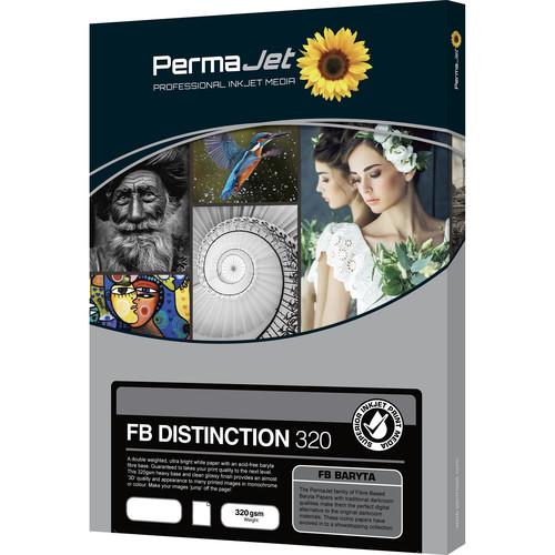PermaJetUSA Fiber Base Distinction 320 Baryta Paper (A3, 10 Sheets)