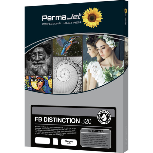 PermaJetUSA FB Distinction 320 Fiber-Based Baryta Paper (A3, 25 Sheets)