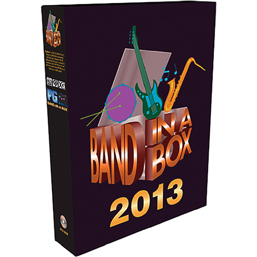 PG Music Band-in-a-Box Pro Software 2013 (Upgrade from 2012)