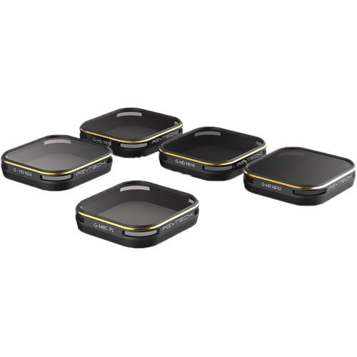 PGYTECH Filter For Gopro 6/5 Set (5-Pack)ND4/8/16/32/PL)