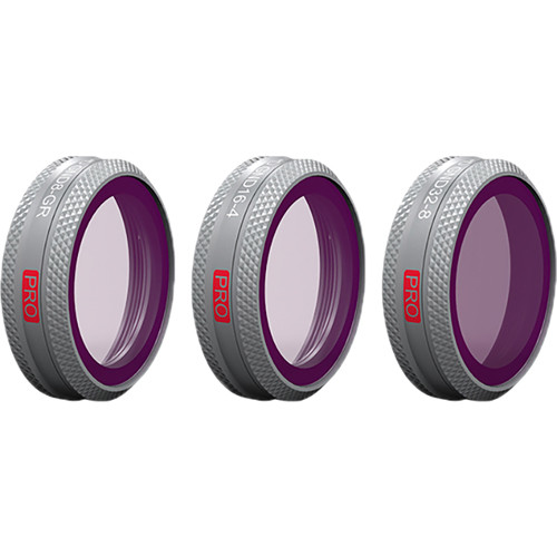 PGYTECH Filter For Mavic 2 Zoom - GND ND8-GR, ND16-4, ND32-8 Set (Professional)