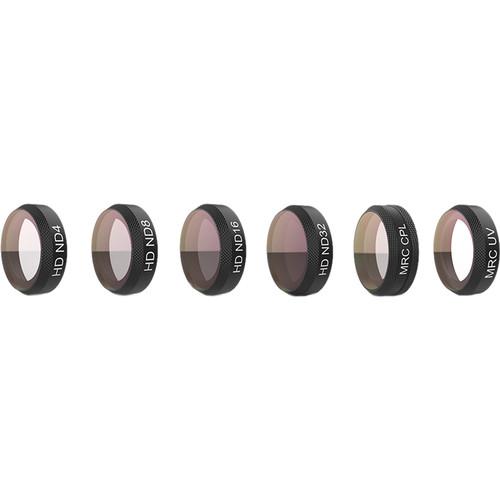 PGYTECH 6-Filter Set for DJI Mavic Air Camera (UV, ND4/8/16/32 & CPL)