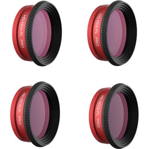 PGYTECH Filter For Mavic Air - Nd -Pl Set Pro (Nd4-Pl Nd8-Pl Nd16-Pl Nd32-Pl)