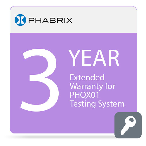PHABRIX Extended 3-Year Warranty for PHQX01 Testing System