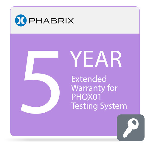 PHABRIX Extended 5-Year Warranty for PHQX01 Testing System