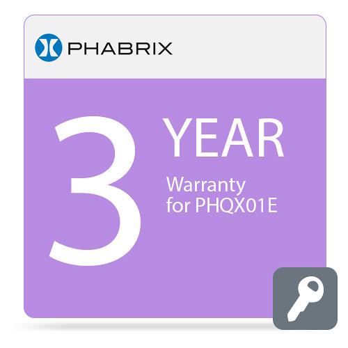 PHABRIX PHQX01E 3-Year Warranty