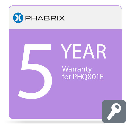 PHABRIX PHQX01E 5-Year Warranty
