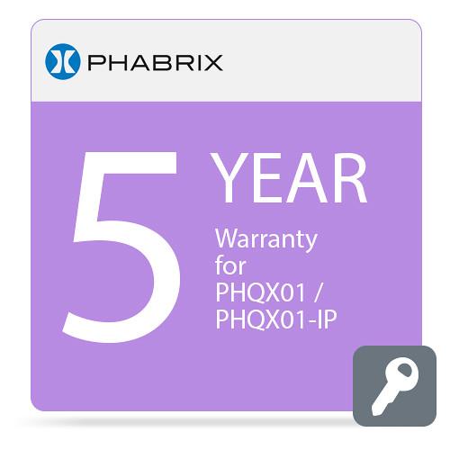 PHABRIX PHQX01 / PHQX01-IP 5-Year Warranty